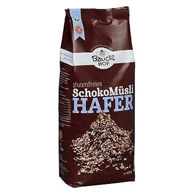 Bauck Hof - Muesli de avena sin gluten con chocolate: Amazon ...