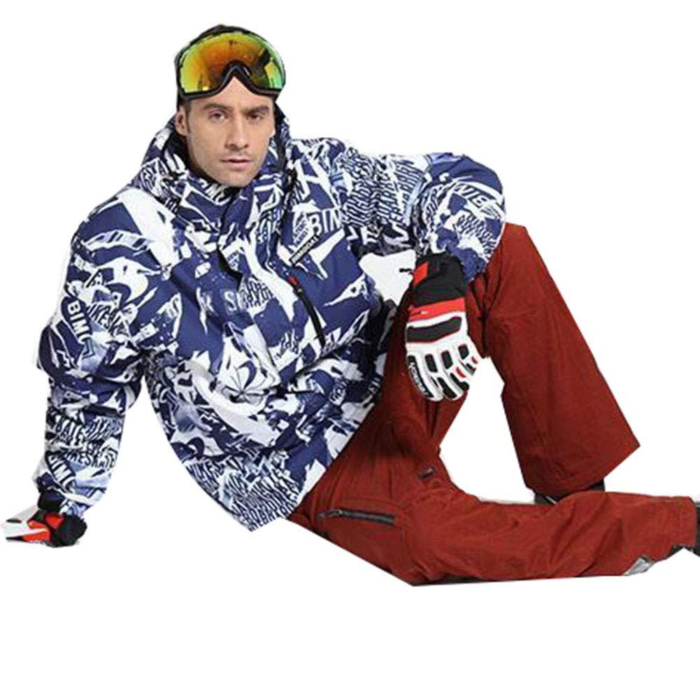Blau XXXL Herren Ski Wear EIS Skianzug Einzel Board Doppel Board Winddicht Wasserdichte Warme Outdoor Baumwollkleidung