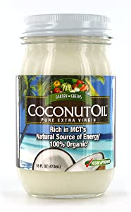 Garden Greens Coconut Oil, Pure Extra Virgin, Rich in MCTs, 32 servings