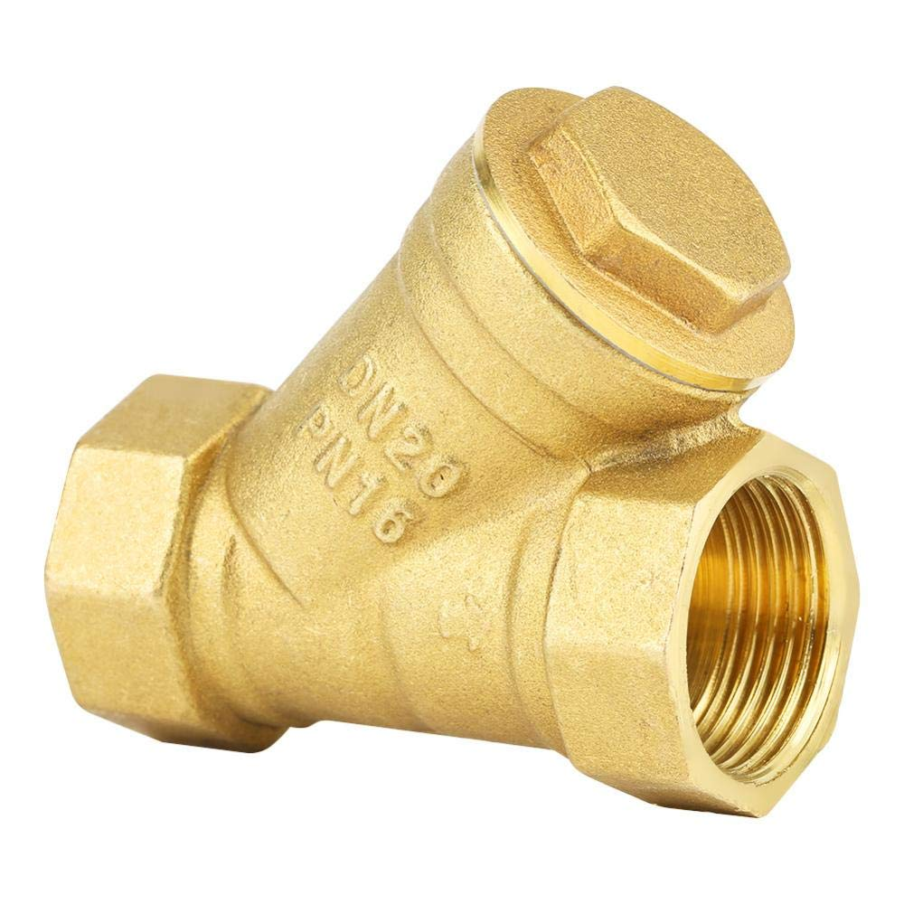 Zetiling Forged Brass Y-Strainer,3/4'' BSPP Female Thread Y Shaped Brass Strainer Filter Valve Connector for Water Oil Separation by Zetiling
