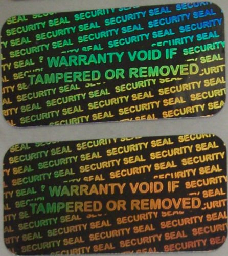 1000 Security Seal Hologram silver Tamper Evident Warranty Labels Stickers 15mm x 30mm- Dealimax -
