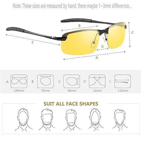 Amazon.com: Gafas Nocturna | Gafas de sol - Para la pesca/Conducción nocturna/Reducción de riesgos | Antideslumbrantes/Protección UV400 de Ojos/ HD Vision ...