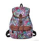 Douguyan Cute Lightweight Casual Backpack for Teenage Girls Women Print Daypack(Green Peacock) 164