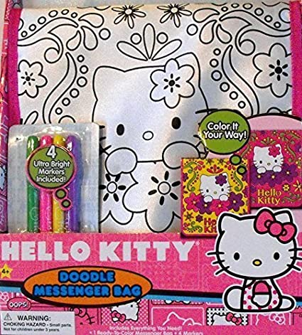 Buy Hello Kitty Doodle Messenger Bag with 4 Ultra Bright Markers Online at  Low Prices in India - Amazon.in 8e1cc759f651a