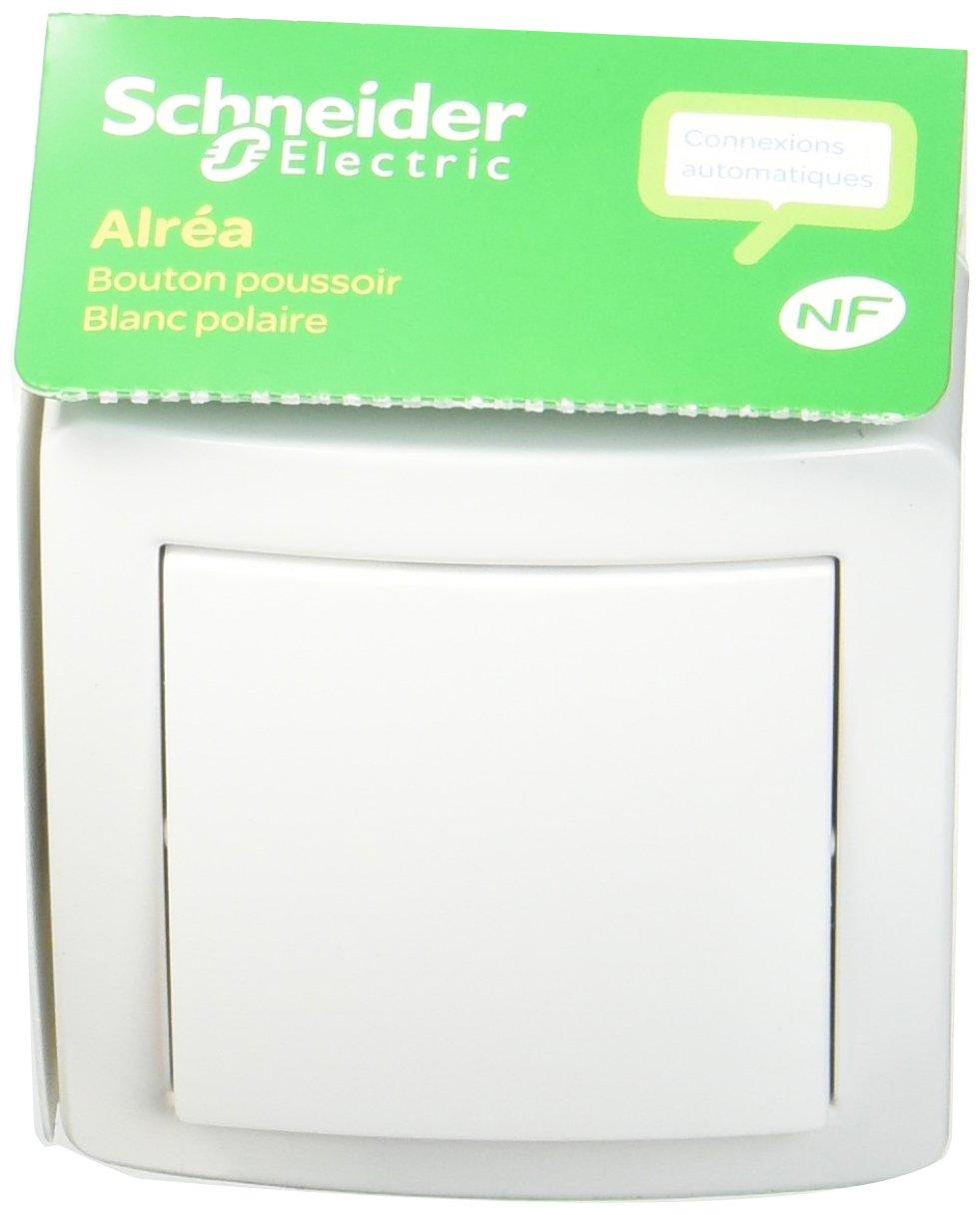 Schneider Electric SC5SHN0262053P Alrea Poussoir à fermeture avec cadre saillie