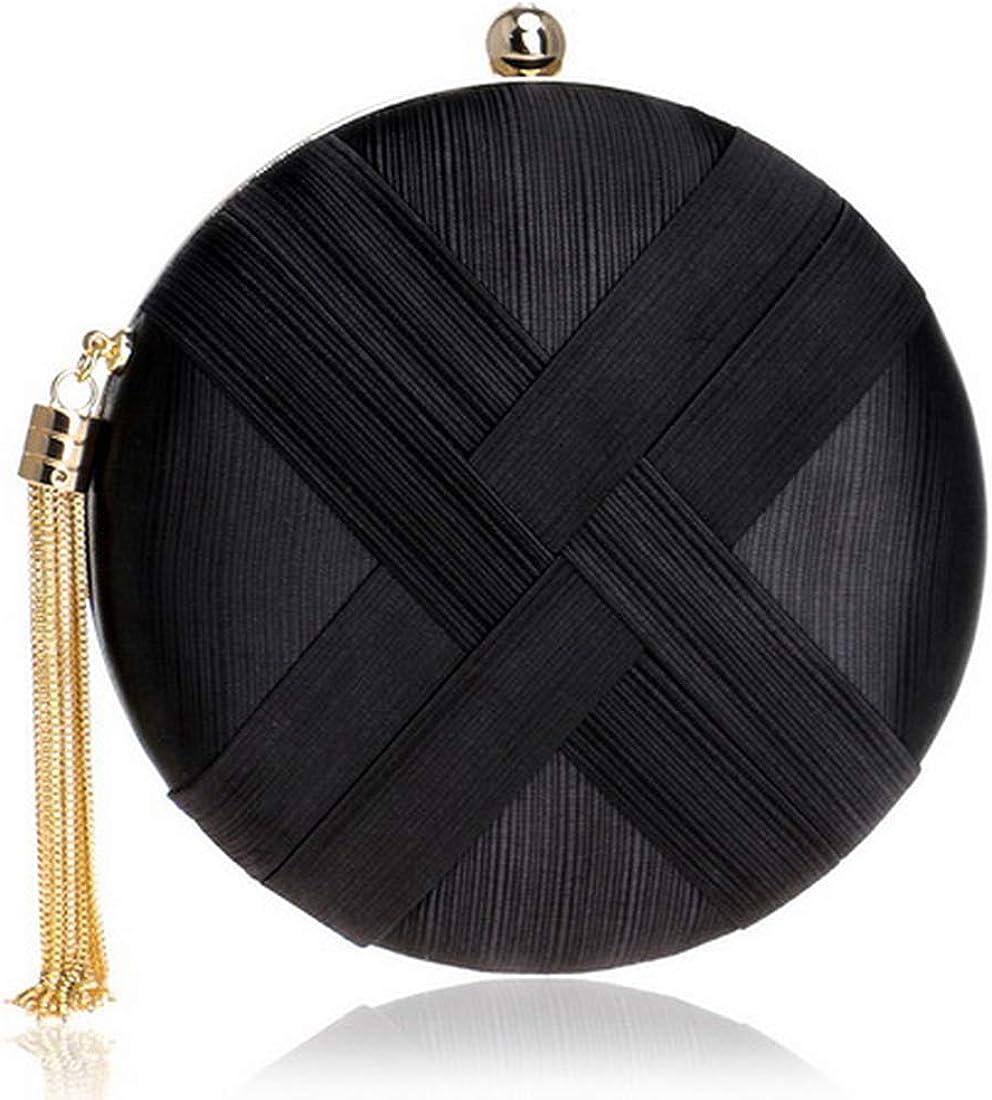 Women Bag Tassel Metal Small Day Clutch Purse Handbags Chain Shoulder Lady Evening Bags Phone Key Pocket Bags