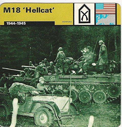 1977 Edito-Service, World War II, 45.09 M18 Hellcat Tank Destroyer ()