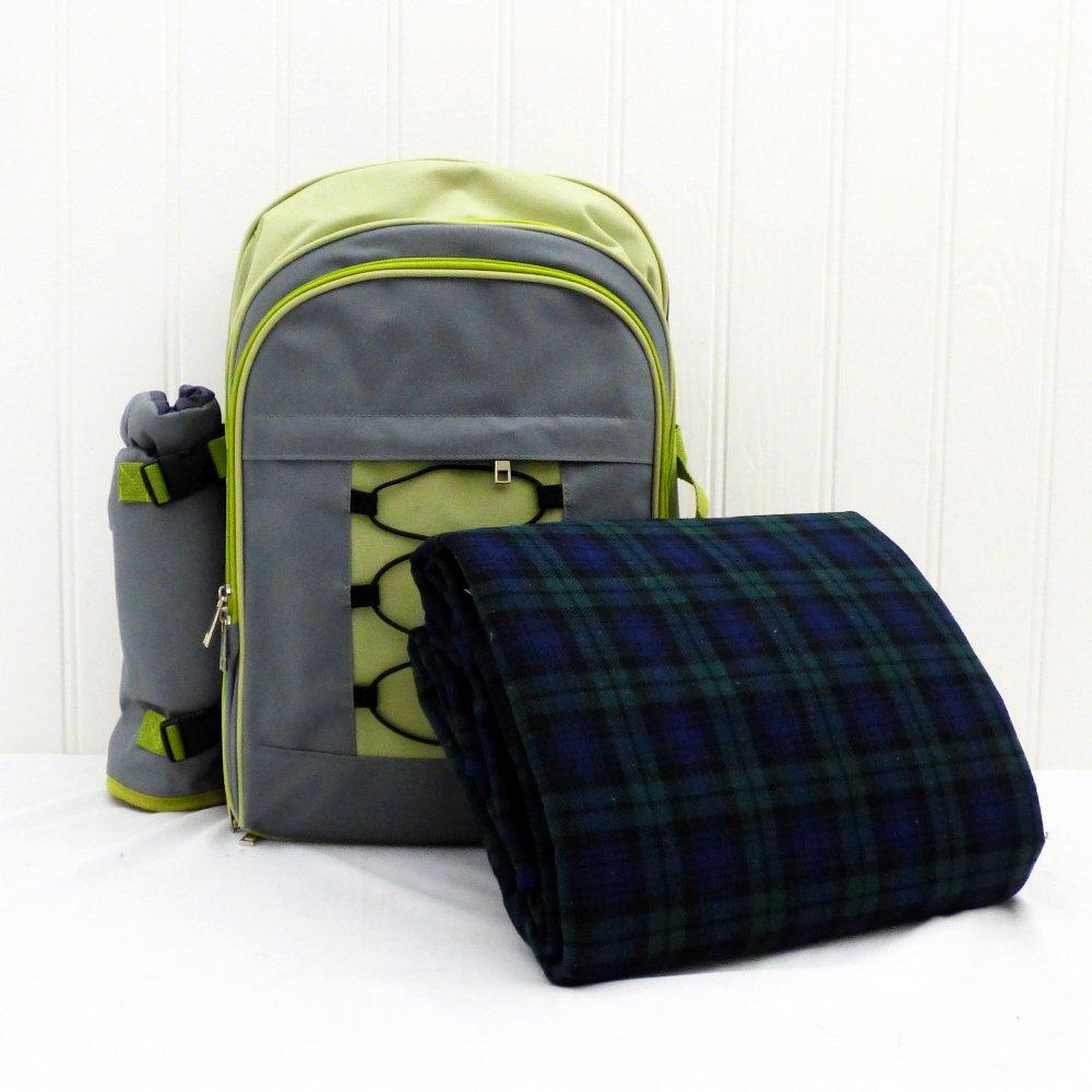 Picknick Rucksack für 4 Personen mit Zubehör Ideal Zum Wandern