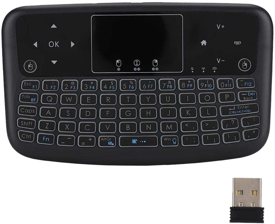 Mini Touch Flat Backlight 2.4G Button Keyboard Wireless Keyboard Left and Right Mouse Keys Wireless Button Keyboard Wendry Wireless Keyboard Touch Pad