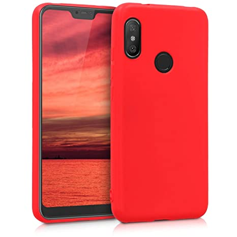 kwmobile Coque Xiaomi Redmi 6 Pro/Mi A2 Lite - Coque pour Xiaomi Redmi 6  Pro/Mi A2 Lite - Housse de téléphone en Silicone Rouge Mat