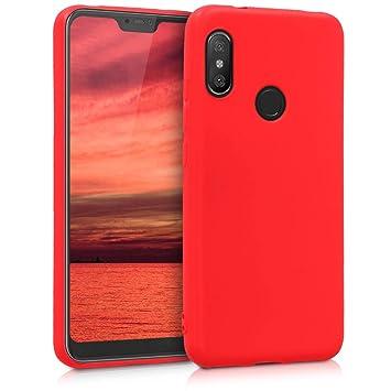 kwmobile Funda para Xiaomi Redmi 6 Pro/Mi A2 Lite - Carcasa para móvil en [TPU Silicona] - Protector [Trasero] en [Rojo Mate]