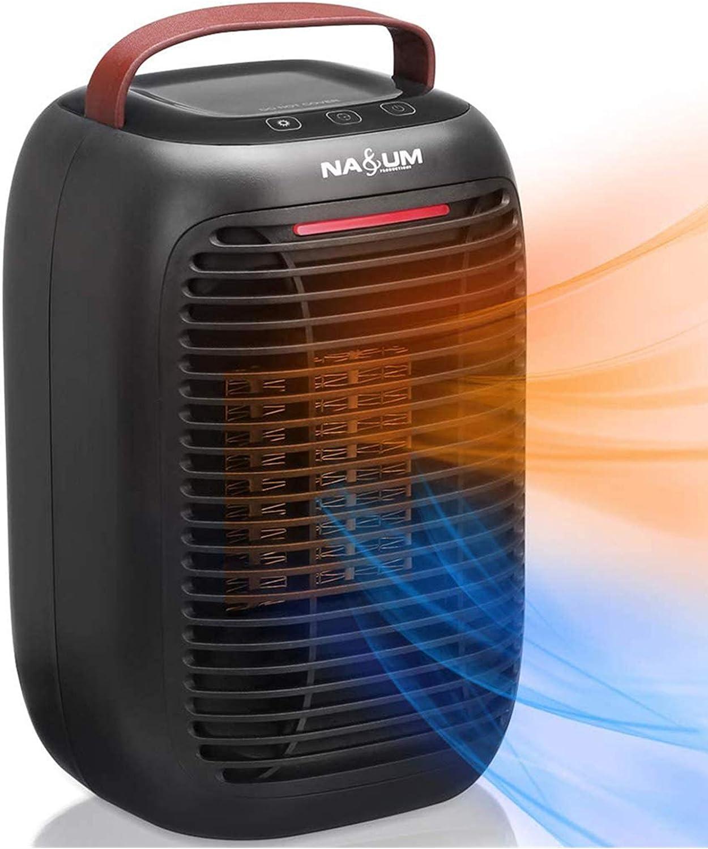 NASUM Calentador Eléctrico Portátil/Calentador de Ventilador, Fácil de Calentar/Sin Fuego/Seguro y Respetuoso con el Medio Ambiente, Larga Vida, Adecuado para Dormitorio/Oficina/Hogar