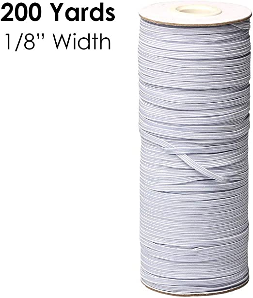 Elastic String from European Production Sewing Elastic 5mm Premium Elastic Cord Set 5mm Coloured in 6 Colours