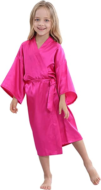 BOYANN Bride Bridesmaid Dressing Gowns Bridal Party Kimono Robe Silk Pyjamas with Gold Glitter