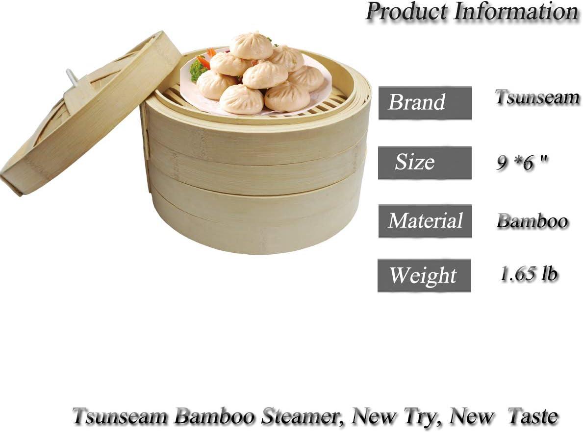 Vaporera clásica de bambú/cestas de bambú/vaporizador de alimentos ...