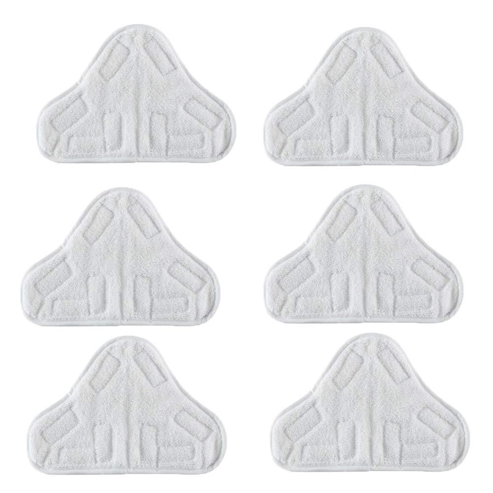 Confezione da 6 Pattini in Microfibra Lavabile per Adattarsi ai mop a Vapore Vax Bionaire Efbe-Schotte H2O Montiss /& Delta