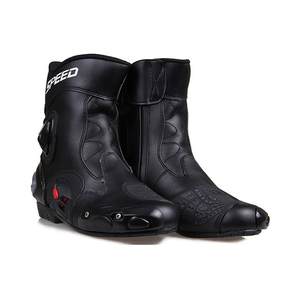 LKN Ankle Joint Protective Gear Motorcycle Boots Shoes for Riding Racing White