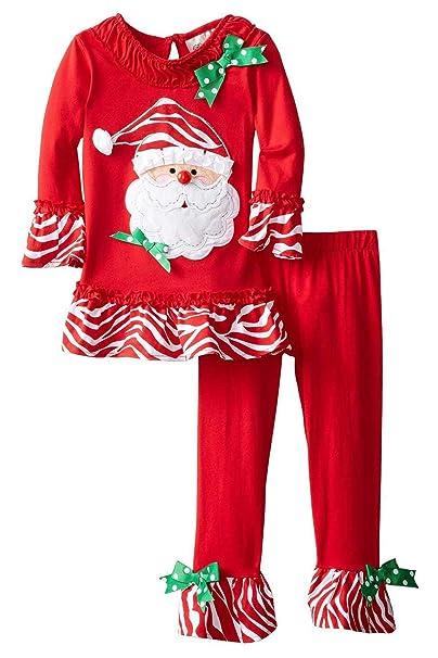 43ee59f39a Hacos Little Boys Girls Christmas Cotton Pajamas Santa Claus PJS Toddler  Sleepwear 2 Piece Set (