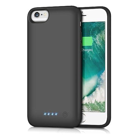 Trswyop Akku Hülle für iPhone 6 6S 7 8, [6000mAh] Ladebatterie Hülle Akku Handyhülle Ultradünnes Zusatzakku Schutzhülle Wiede