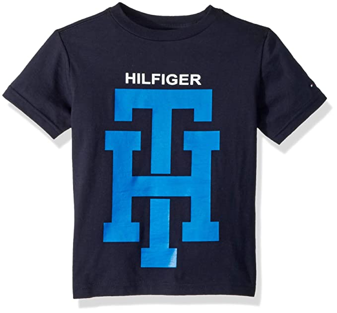 543b032fdf Tommy Hilfiger Toddler Boys' Short Sleeve Graphic T-Shirt, Vibrant Swim  Navy,
