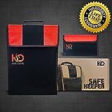 H&O Safe Keeper Fireproof Money Bag for Cash, Documents & Valuables | Large Safety Fire Resistance Document Bag & BONUS Triple Layered Fireproof Envelope Pouch | 2pcs Home Fireproof Safe Storage Set!