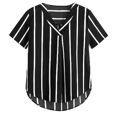 Blusas Mujer Verano Blusa de Manga Corta con Estampado de