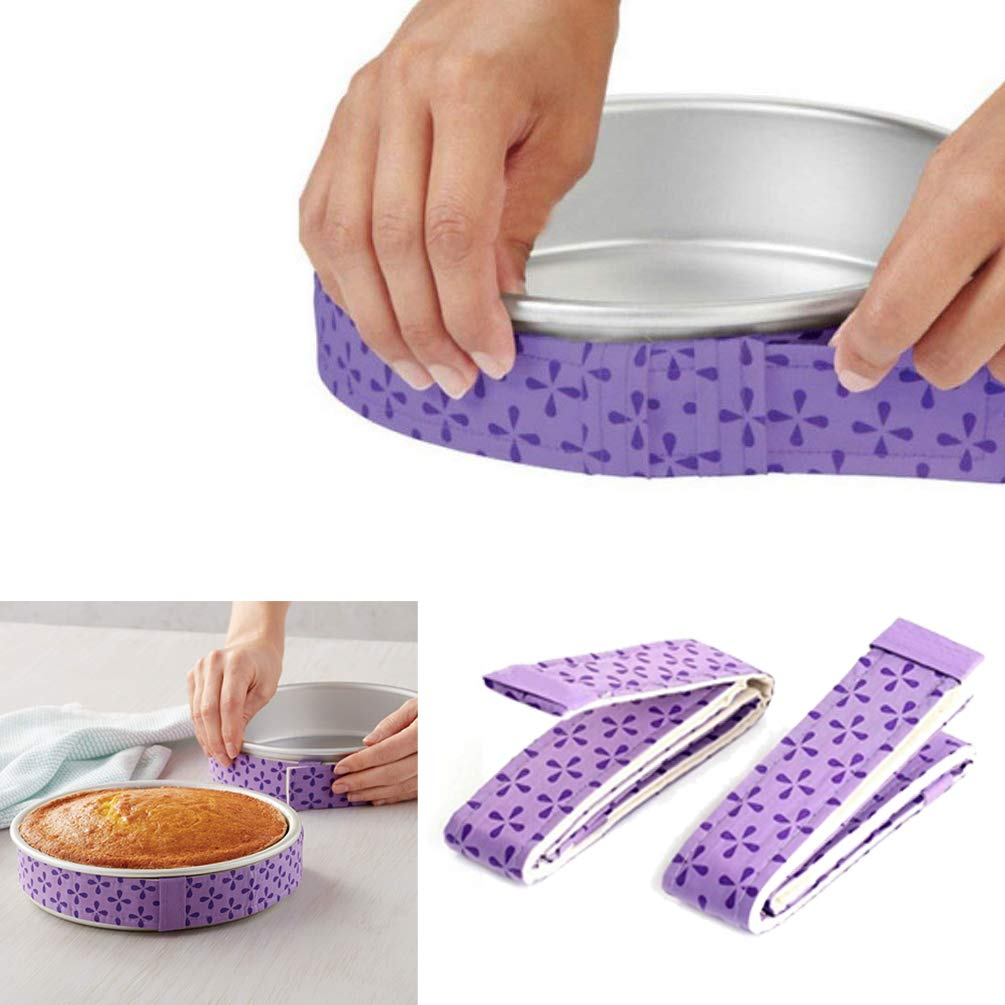 Cake Strips Cake Pan Strips Bake Even Strip Bake Even Cake Strips Bake Even Strip Set for Even Baking 2-Piece SuperCat