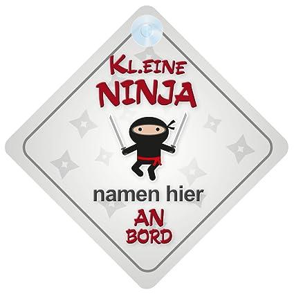 Pequeños Ninja a bordo personalizado soporte para matrícula ...