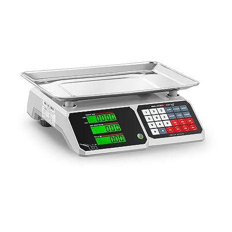 Steinberg Bascula Comercial Balanza Digital de Comercio SBS-PW-301CB (30 kg /