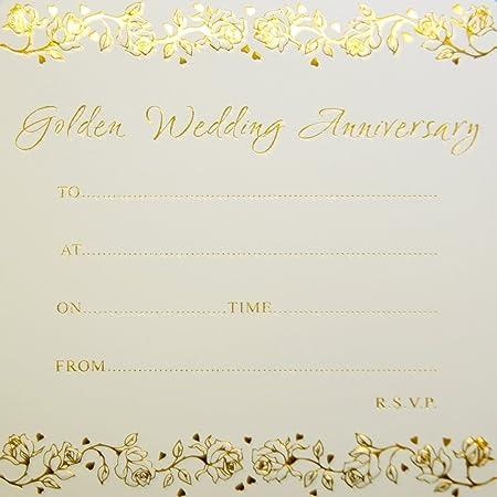 Jean Barrington invitaciones de aniversario de bodas de oro ...