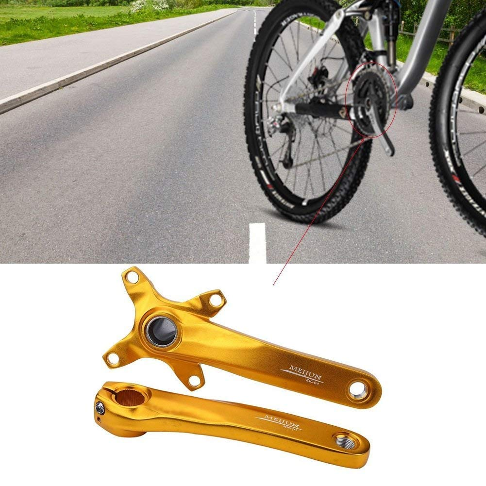 1 Pair 104mm Bicycle Chain Crank Arm Crank Set Repair Parts for Most Mountain Road Bikes Dilwe Bike Crank Arm