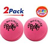 "Pinky Ball (Pack of 2) Hi Bounce Original Pink Ball for Kids and Adults 2.5"" Large Pink Rubber Massage Ball Super Balls by JA-RU. Plus 1 Small Bouncy Ball. Item #976-2p"