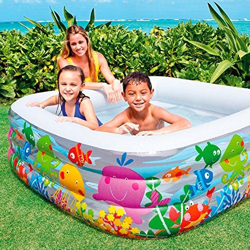 Intex Swim Center Clearview Aquarium Inflatable Pool, 62.5