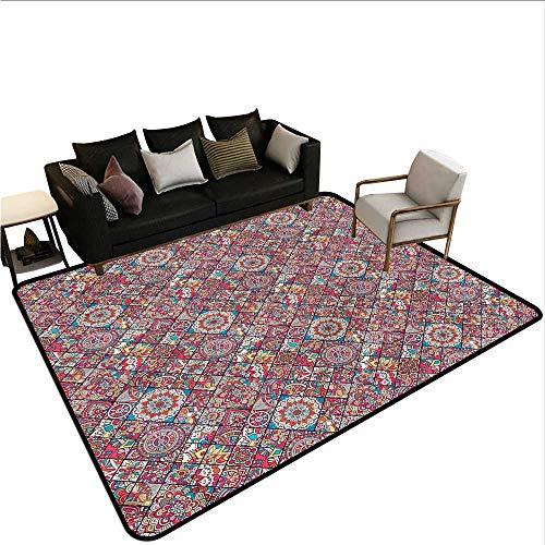 Patchwork,Bathroom Rug Kitchen Carpet 36