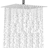 Rain Fall Shower Head Large Square Rain Shower Head Stainless Steel Celling Fixed Mounted Joint Chrome Showerhead - Relaxing and Enjoyable the Shower Experience (8 inchs showerhead)