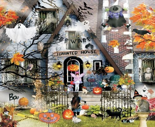 SunsOut Haunted House - Halloween Themed Puzzle - 1000 pc Jigsaw Puzzle ()