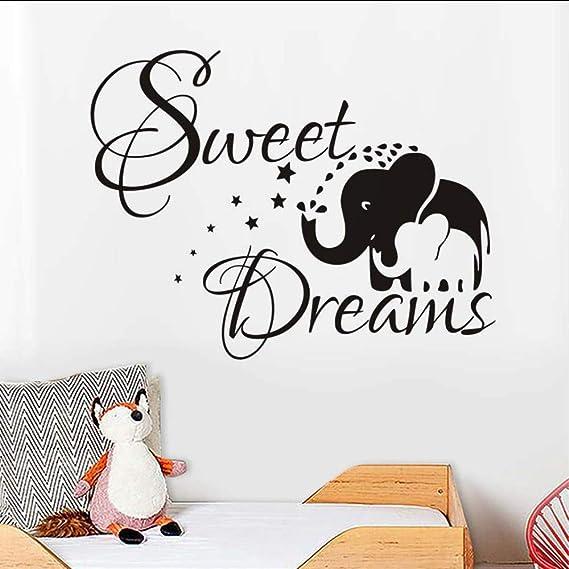 Makeyong Madre Y Bebé Elefante Etiqueta De La Pared Arte Palabras ...