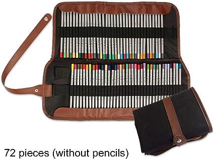 Portatodo 36/72 piezas arte lápices de colores dibujo estuche enrollable de lienzo pintura pinceles soportes rodillo bolsa de almacenamiento para artista dibujo 72-slot: Amazon.es: Oficina y papelería