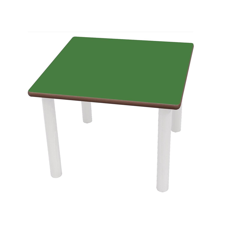 Mobeduc la Plaza de los niños Infantil Mesa, Madera, Color Verde Oscuro, tamaño 2, 80 x 80 x 53 cm