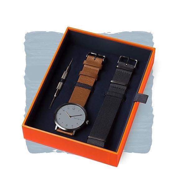 HAVET | Reloj de hombre · Barents Special Edition · reloj de acero color antracita con