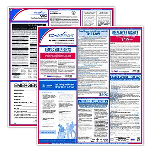 ComplyRight Fed/State Ohio Compliance Labor Law Poster Kit, Laminated, 24