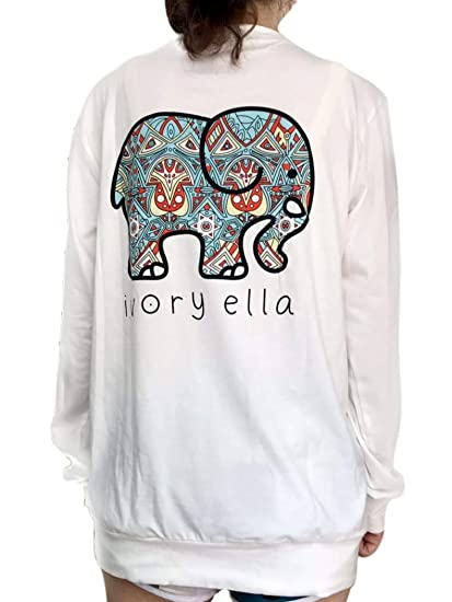 309edc162a13ac Elephant Graphic Print T-Shirt Women Casual O Neck Casual Tees Blouse Tops  at Amazon Women s Clothing store
