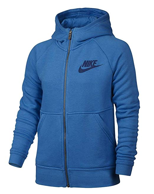 Nike - Sudadera con Capucha - para niña Azul LT Photo Blue/Deep Royal Blue Large: Amazon.es: Ropa y accesorios