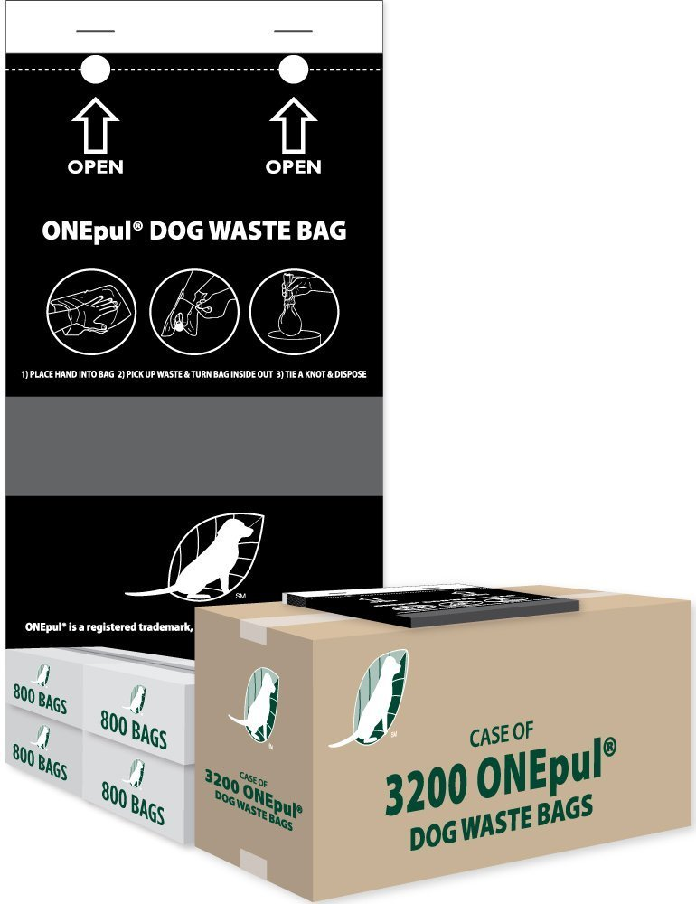 4 Box Case of Pull Style Dog Waste Bags for Station Refill from Pooper Trooper by There is No Brand