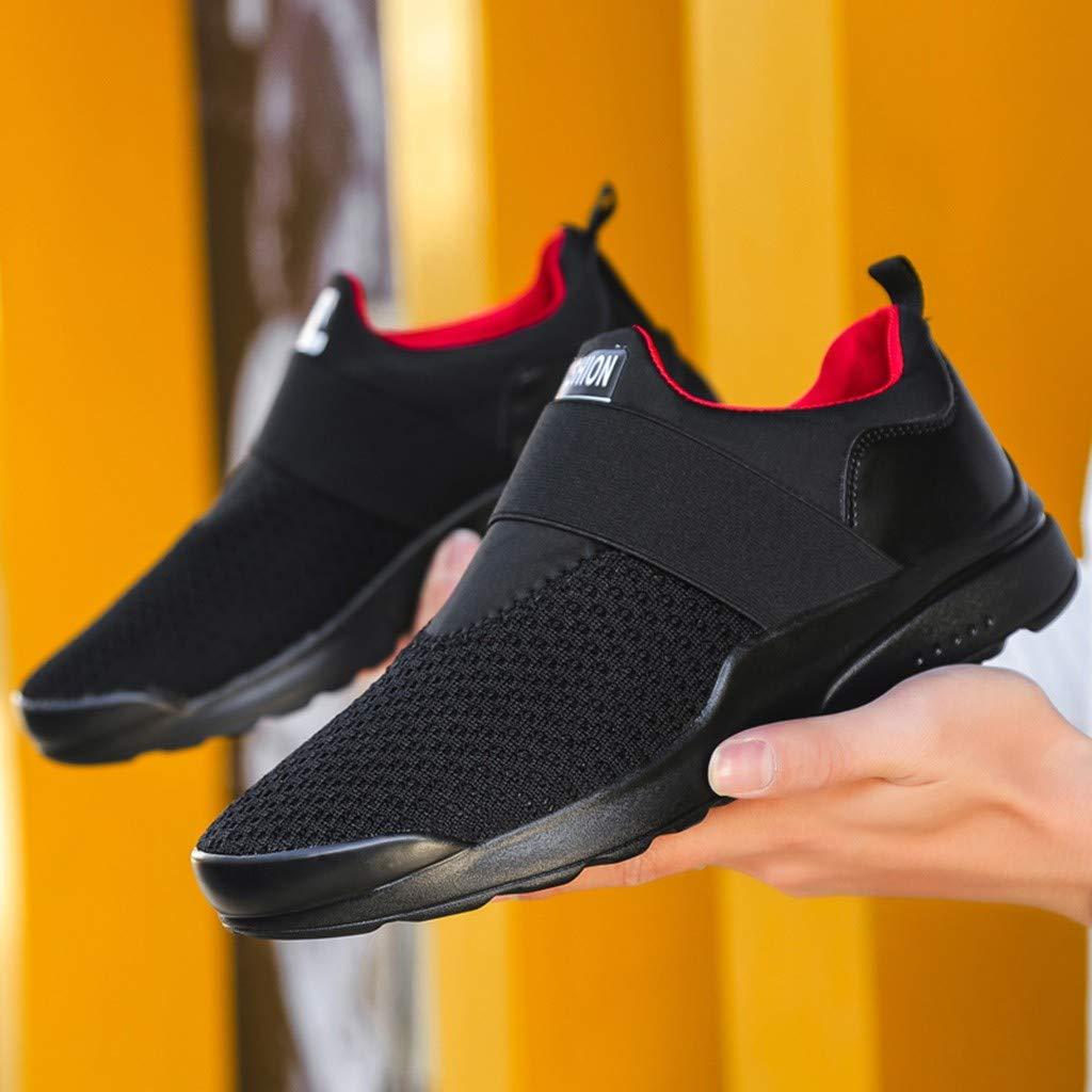 zycShang Chaussures Basses Homme Couleur Unie Tissage Surface Nette Baskets Mode Mixte Adulte R/ésistant /à lusure Lace-Up Chaussures L/éger Course Sneakers Casual Shoes Running Respirantes