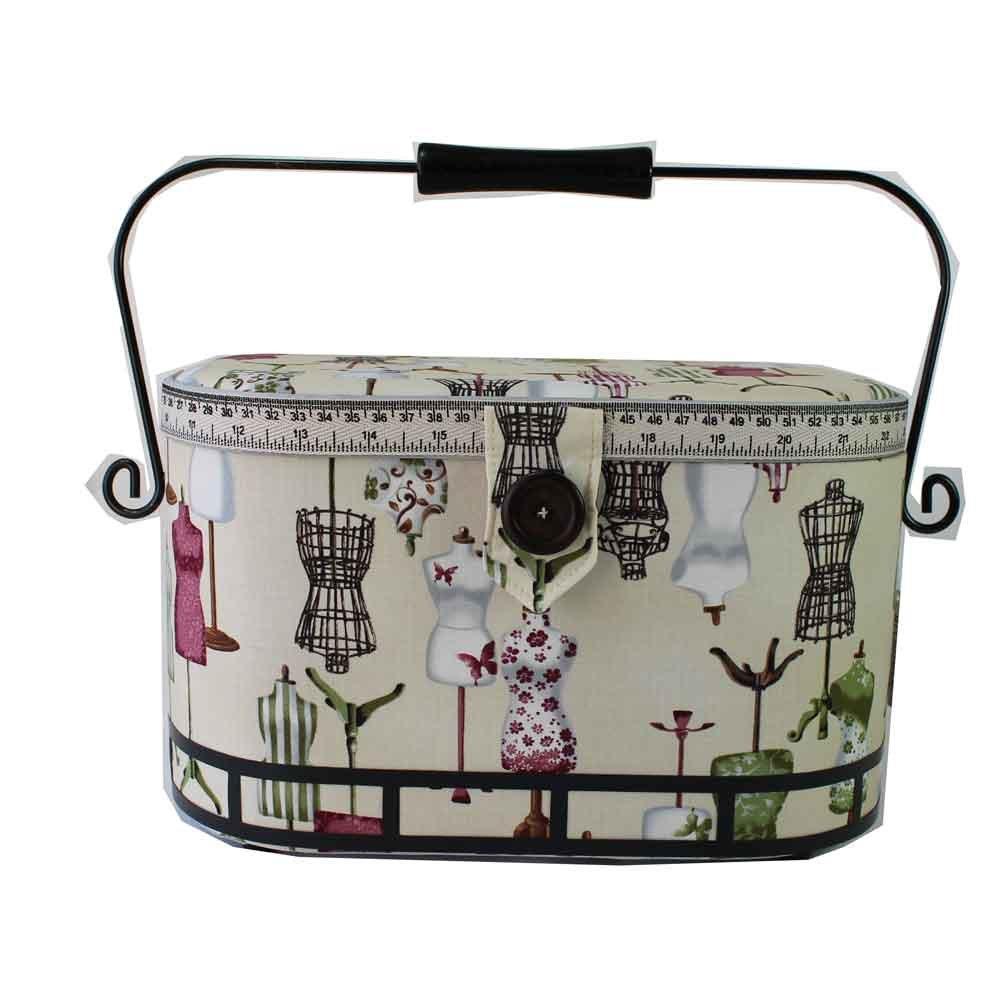 Prym 612250 | Dressform Print Sewing Basket | 30 x 20½ x 19cm PRYM_612250-1
