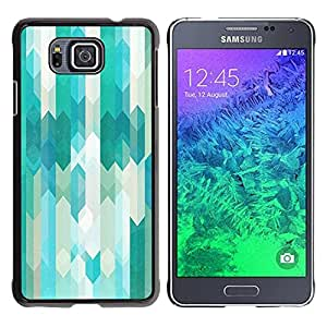 Paccase / SLIM PC / Aliminium Casa Carcasa Funda Case Cover para - Lines Abstract Pattern White Bright - Samsung GALAXY ALPHA G850
