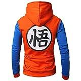 CHENMA Men Dragon Ball Goku Long Sleeve Full-Zip