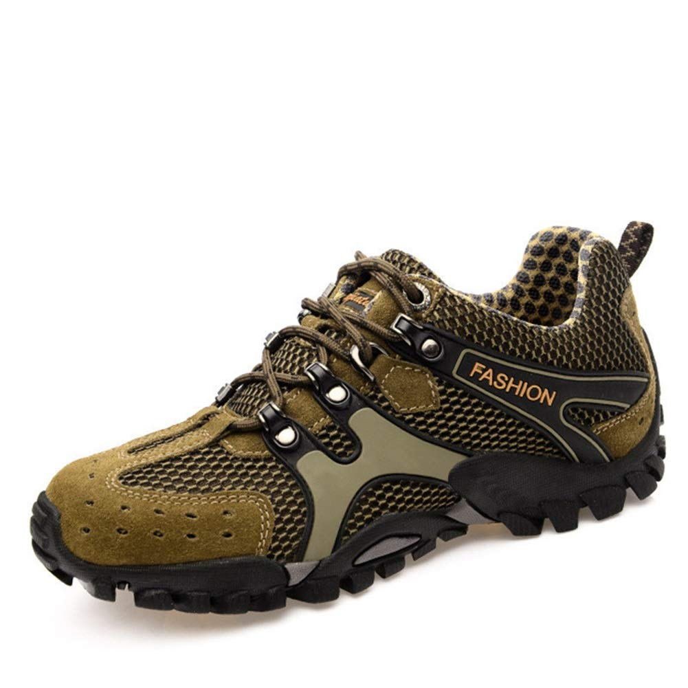 Couple Outdoor Walking Shoes Mesh Hiking Shoes Large Size Breathable Mesh Shoes Fishing Shoes Womens Hiking Shoes