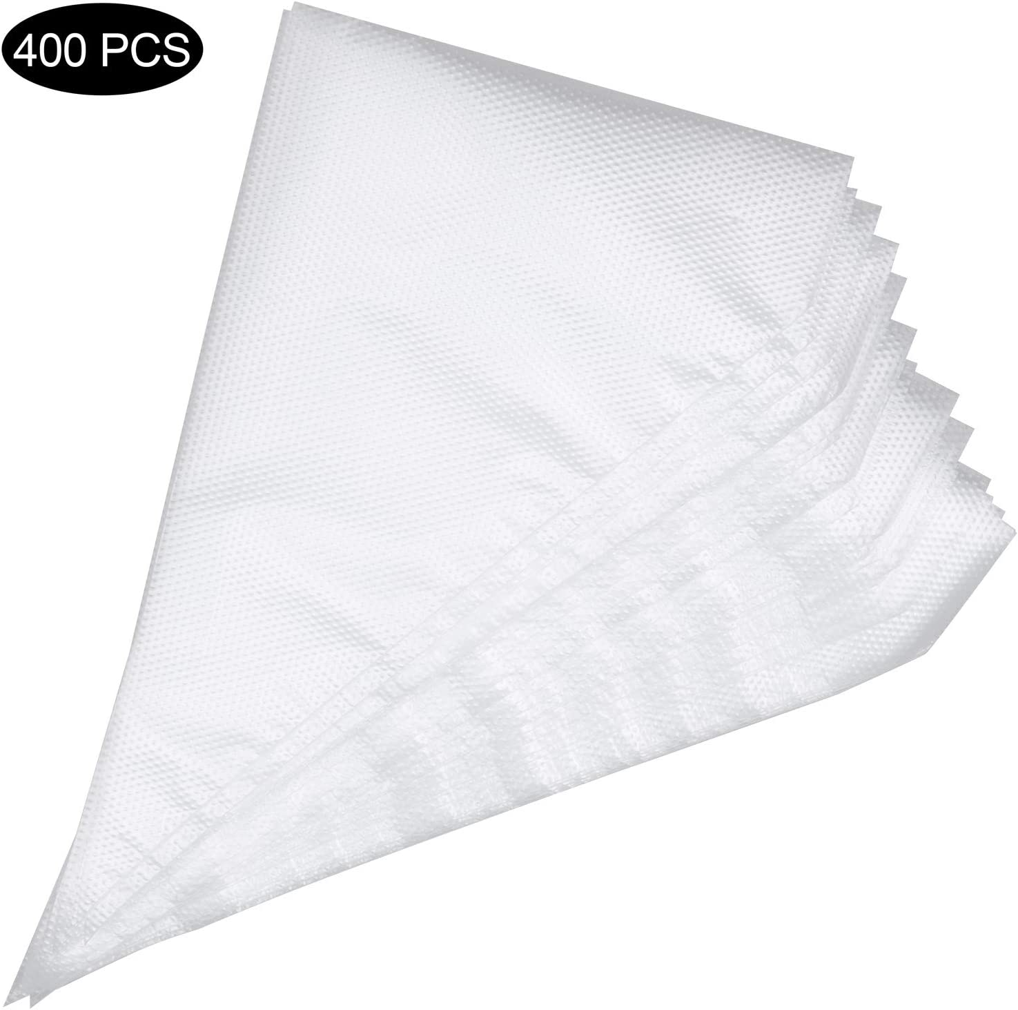400 Pcs Disposable Piping Icing Pastry Bags 12 inch Cake Cream Cupcake Decorating Bag